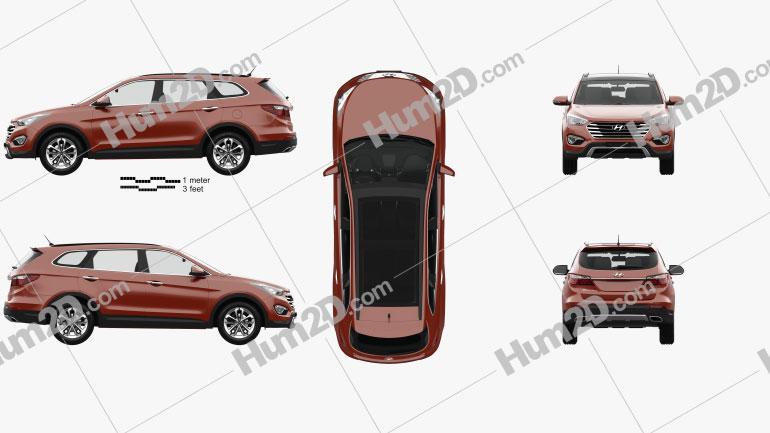 Hyundai Maxcruz with HQ interior 2014 Clipart Image