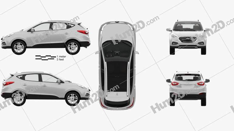 Hyundai Tucson with HQ interior 2014 Clipart Image