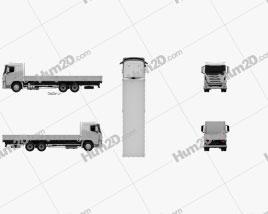 Hyundai Xcient Flatbed Truck 2014