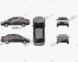 Hyundai HB20S 2015 car clipart