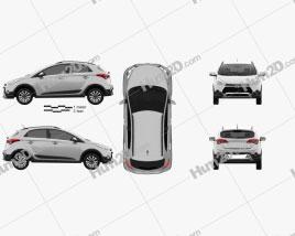 Hyundai HB20X 2015 car clipart