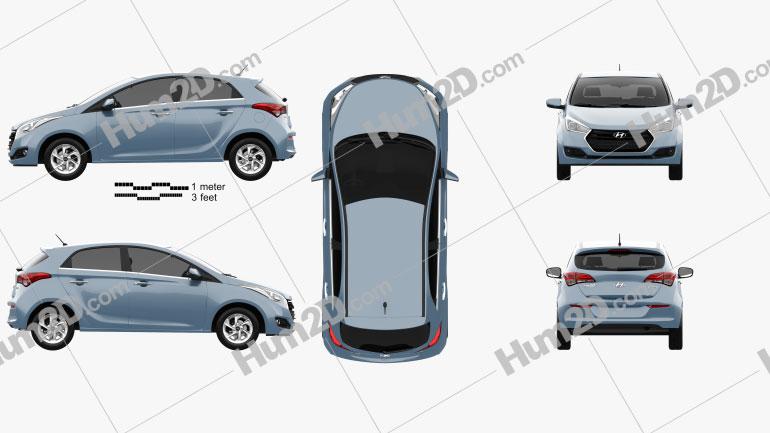 Hyundai HB20 2015 car clipart
