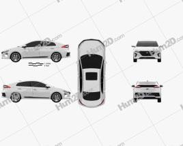 Hyundai Ioniq 2017 car clipart
