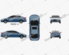 Hyundai Elantra (CN) 2017 Clipart