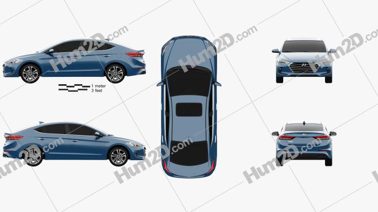 Hyundai Elantra (CN) 2017 car clipart