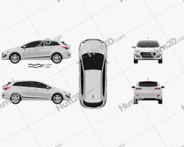 Hyundai i30 (Elantra) Wagon (UK) 2015 car clipart