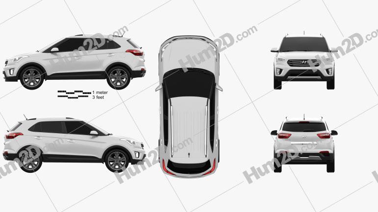 Hyundai Creta (ix25) 2016 Clipart Image