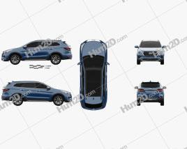 Hyundai Santa Fe (DM) 2017 car clipart