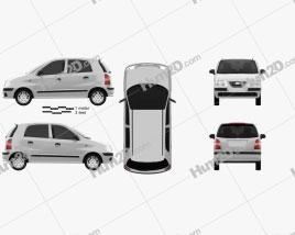 Hyundai Santro Xing 2016 Clipart