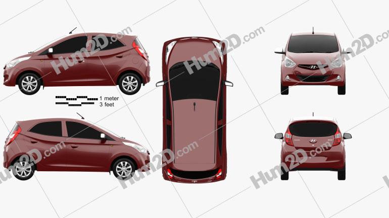 Hyundai Eon 2011 car clipart