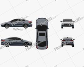 Hyundai Avante Sport 2017 car clipart