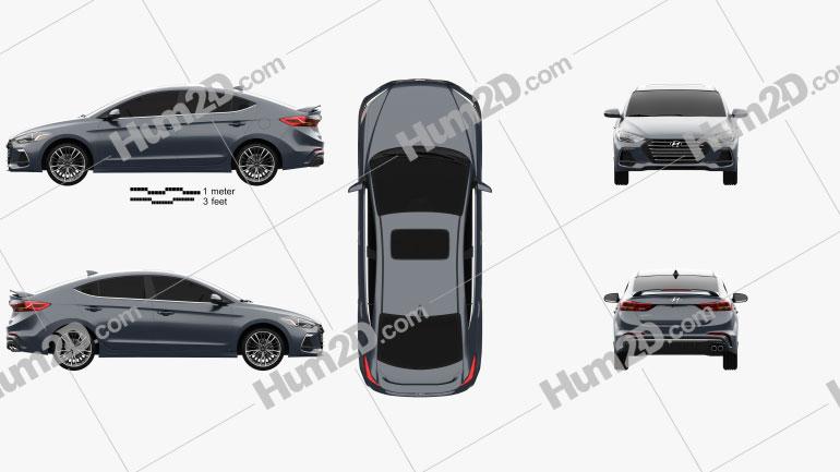 Hyundai Avante Sport 2017 Clipart Image