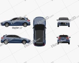 Hyundai i30 (Elantra) 5-door 2016 car clipart