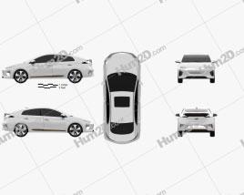 Hyundai Ioniq Electric 2016 car clipart