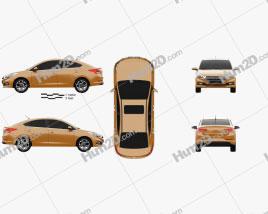 Hyundai Verna (Accent) 2017 car clipart