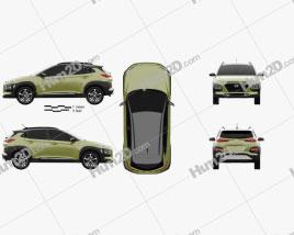 Hyundai Kona 2018 car clipart