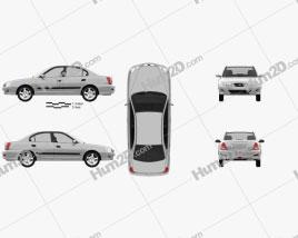 Hyundai Elantra (XD) CN-spec 2010 car clipart