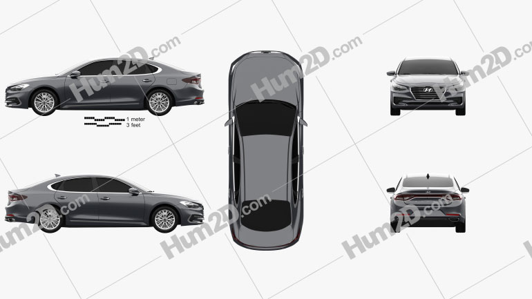 Hyundai Azera (IG) 2017 Clipart Image