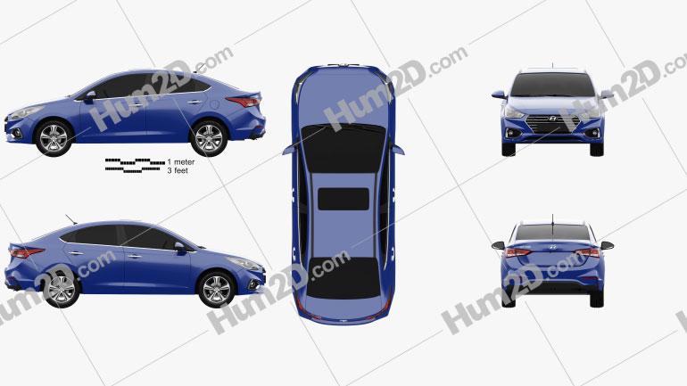Hyundai Solaris (HCR) 2017 car clipart