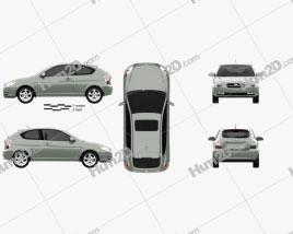 Hyundai Accent (MC) hatchback 3-door 2006 car clipart