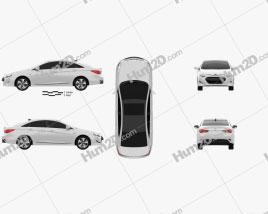 Hyundai Sonata (YF) hybrid 2015 car clipart