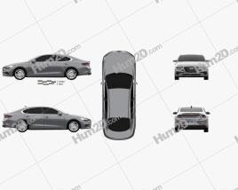 Hyundai Grandeur (IG) 2017 car clipart