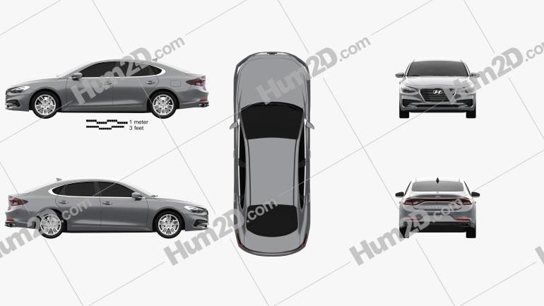 Hyundai Grandeur (IG) 2017 Clipart Image