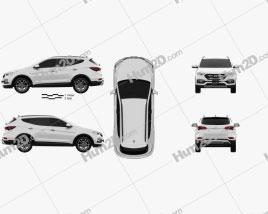 Hyundai Santa Fe (DM) 2015 car clipart