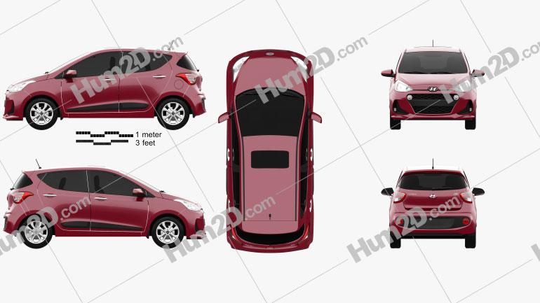 Hyundai i10 2017 car clipart