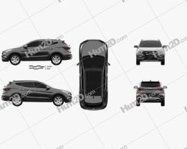 Hyundai Santa Fe (DM) KR-spec 2015 car clipart