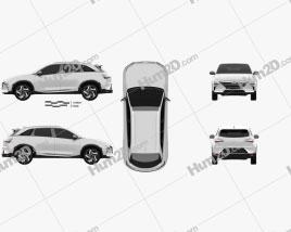 Hyundai Nexo 2019 car clipart