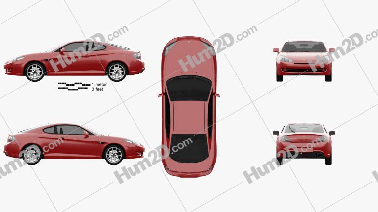 Hyundai Coupe GK 2007 Clipart Image