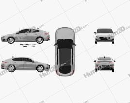 Hyundai i30 fastback 2017 car clipart