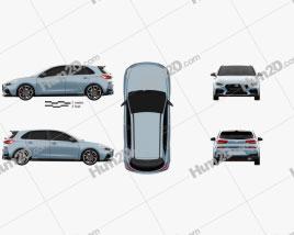 Hyundai i30 N Schrägheck 2017 car clipart