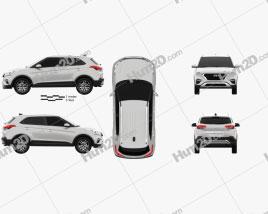 Hyundai Creta 2017 car clipart