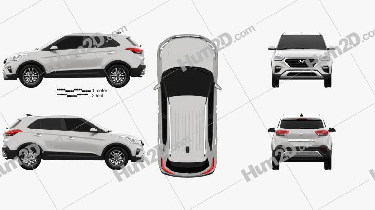 Hyundai Creta 2017 Clipart Image