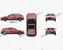 Hyundai Veloster 2019 car clipart