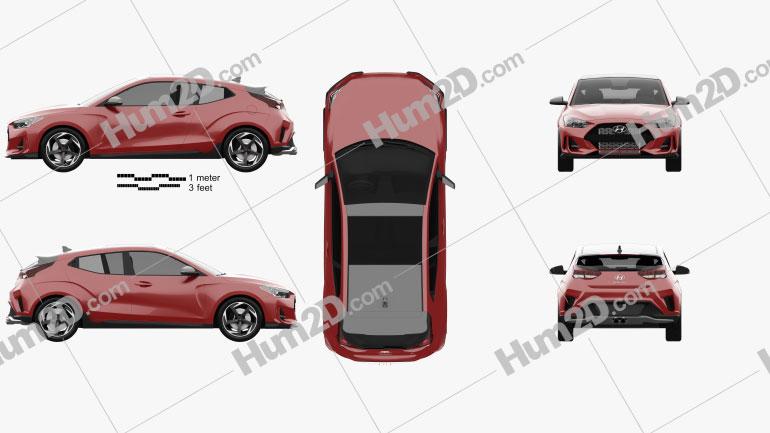 Hyundai Veloster 2019 Clipart Image