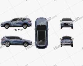 Hyundai Santa Fe (TM) 2019 car clipart