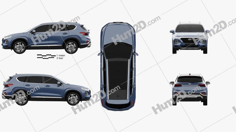 Hyundai Santa Fe (TM) 2019 Clipart Image