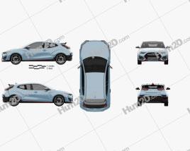 Hyundai Veloster N 2018 car clipart