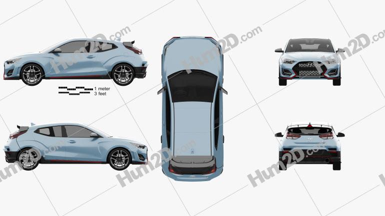 Hyundai Veloster N 2018 Clipart Image