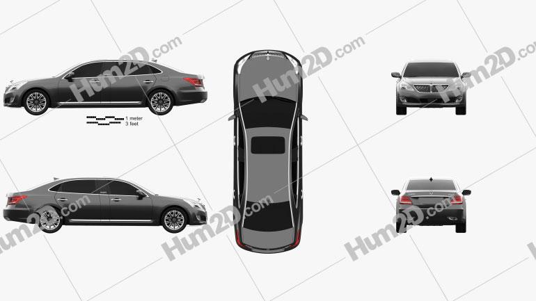 Hyundai Equus limousine 2014 Clipart Image