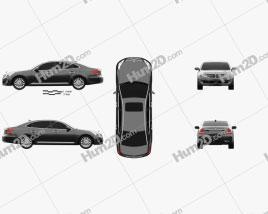 Hyundai Equus sedan 2014 car clipart