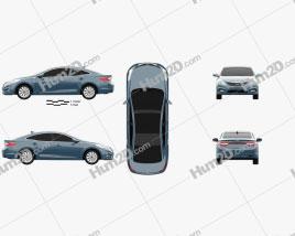 Hyundai Grandeur hybrid 2014 car clipart
