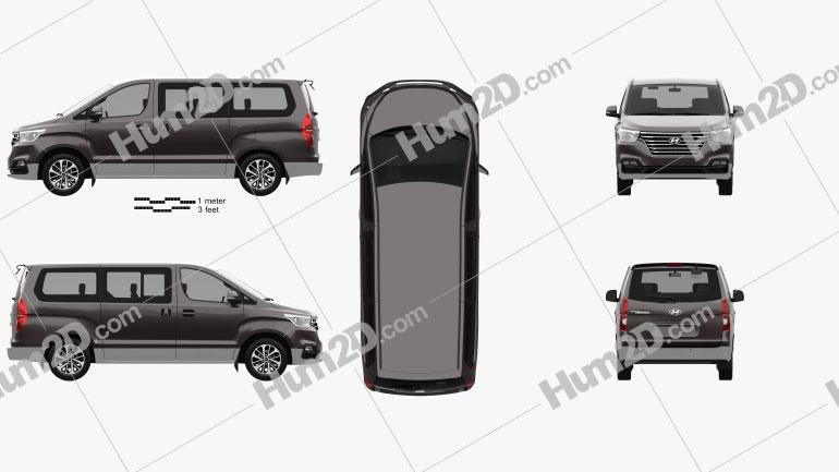 Hyundai Grand Starex 2018 Clipart Image