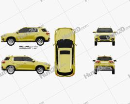 Hyundai ix35 CN-spec 2018 car clipart
