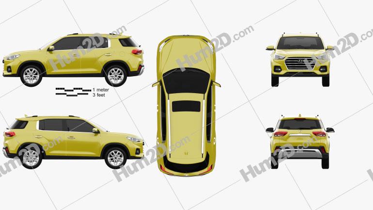 Hyundai ix35 CN-Spez 2018 car clipart