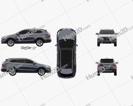 Hyundai Maxcruz 2014 car clipart