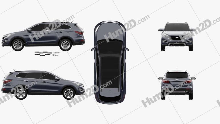 Hyundai Maxcruz 2014 Clipart Image